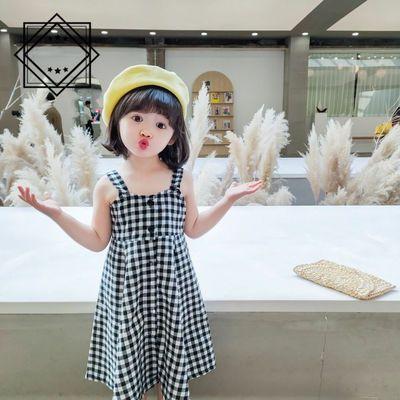 39153/女童2021夏无袖连衣裙韩版时尚网红公主裙中大童连衣裙