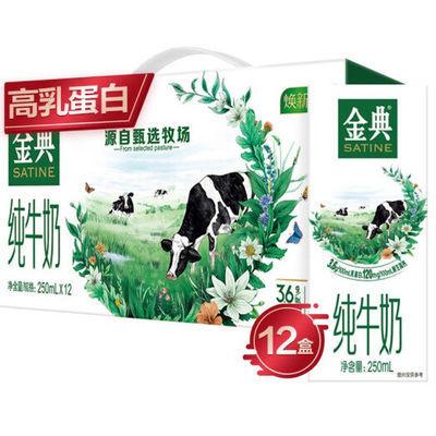 41316/【官方正品】6月产 伊利金典纯牛奶250ml*12盒/箱 全家营养早餐奶