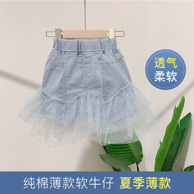 39183/女童牛仔短裙2021年新款宽松夏季儿童裙子时髦中小童半身裙洋气潮