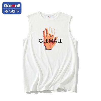 森马旗下Glemall背心男士薄款潮流宽松篮球外穿坎肩无袖潮牌t恤_拼多多优惠券10元券
