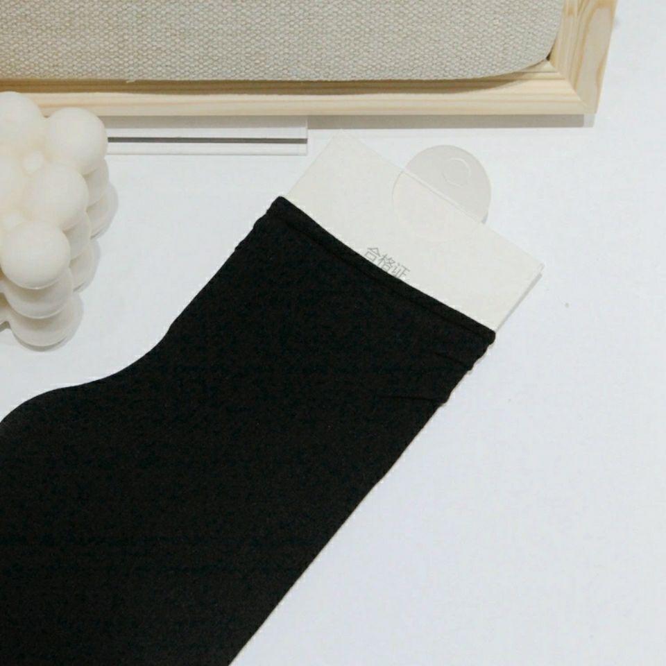 春夏新品纯色彩色女士堆堆袜厚糖果色长袜ins潮高筒休闲袜子