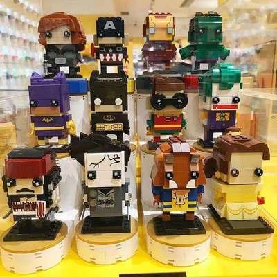兼容乐高积木方头仔变形金刚漫威超级英雄钢铁侠拼装益智儿童玩具
