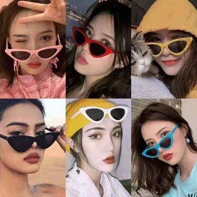 2021新款欧美时尚三角眼镜ins网红同款太阳镜墨镜女大脸圆脸显瘦