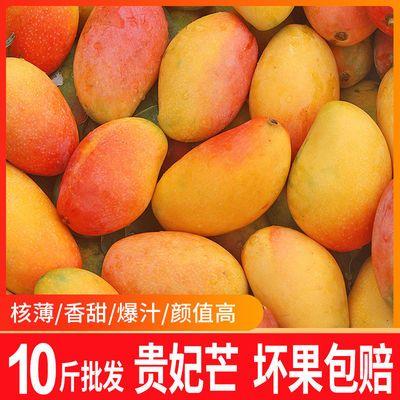 海南贵妃芒果10斤装特大整箱批发红金龙大芒果新鲜特价水果3/5斤
