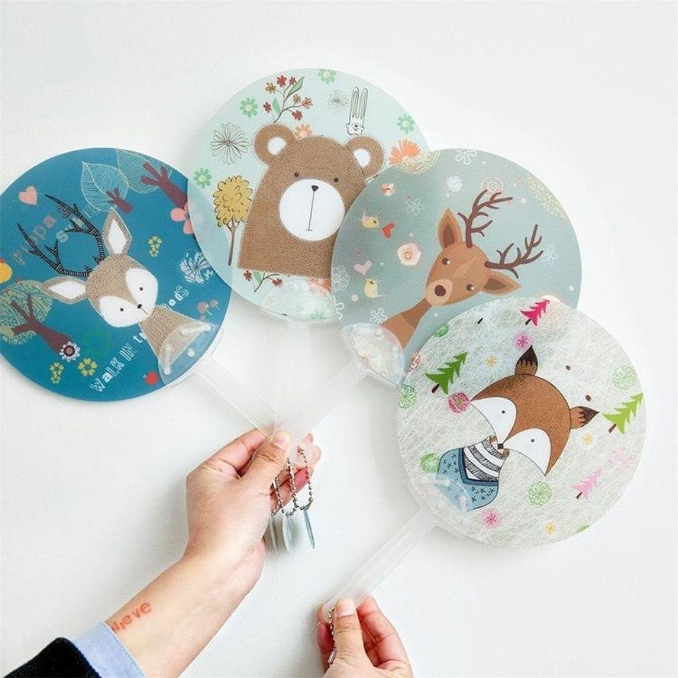 超值1-20个】爆款卡通小扇子儿童塑料扇可爱便携手持扇子夏季礼物