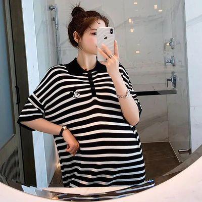 37653/孕妇装夏装2021新款夏季孕妇T恤裙宽松大码连衣裙时尚孕妈潮妈