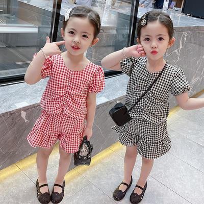 女童网红套装夏装2021新款儿童小香风小童时髦宝宝夏季洋气两件套