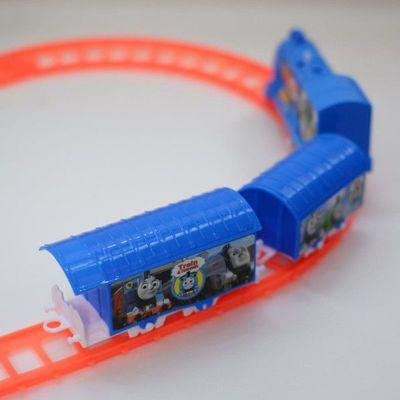 送电池 托马斯小火车电动轨道赛车玩具全套百变拼接益智儿童玩具