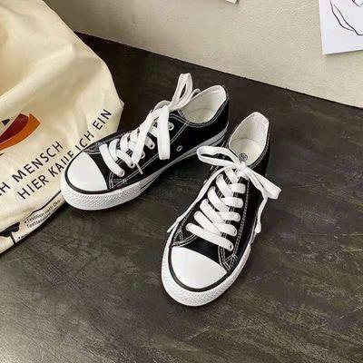 36054/1970s帆布鞋女学生韩版2021新款板鞋百搭透气复古原宿风ins女潮鞋