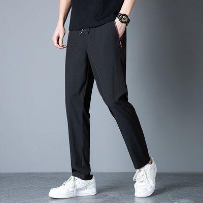 39853/冰丝速干裤男夏季薄款直角弹力透气宽松大码户外跑步运动长裤