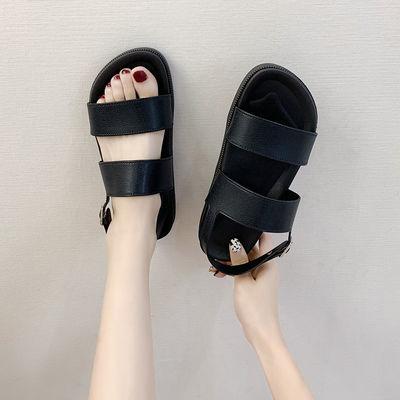 39174/新款厚底凉鞋女士夏季外穿时尚百搭网红拖鞋平跟平底露趾罗马鞋