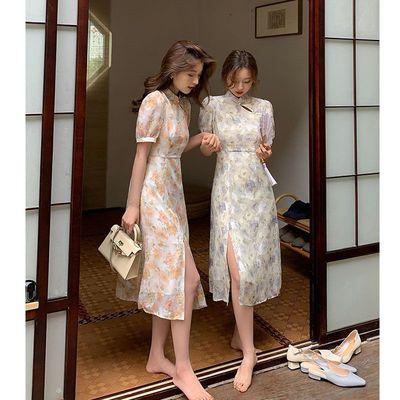 42641/夏季女【司藤同款】国风旗袍改良年轻款连衣裙女法式夏长款裙子