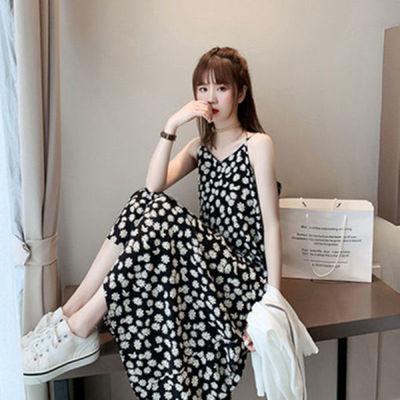 36252/小雏菊碎花连衣裙仙女显瘦裙子超仙森女系法式吊带少女裙一步裙子