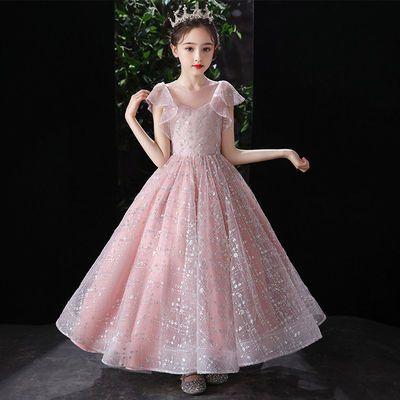 39911/女童礼服公主裙洋气2021新款儿童晚礼服花童婚纱主持人走秀演出服