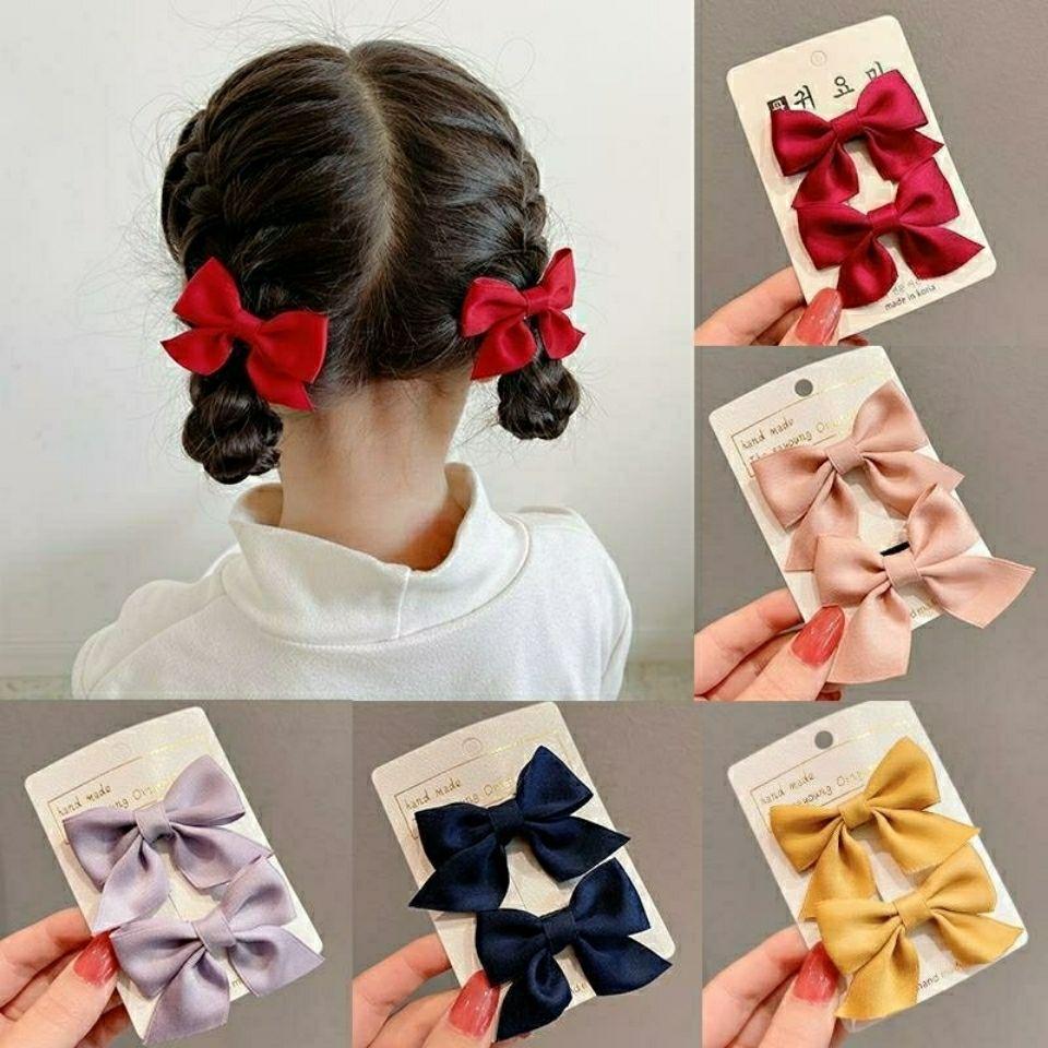新款蝴蝶结发夹韩国儿童女童宝宝公主侧边可爱发卡夹子发饰头饰女