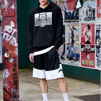57692/NBA篮球短裤男夏季运动裤3加1 BADFIVE速干宽松冰丝感五分篮球裤