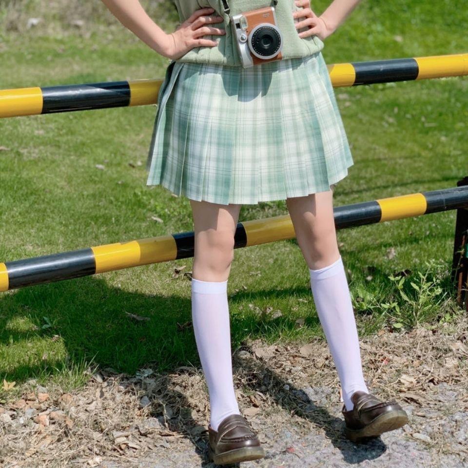 白色中筒袜子JK长袜子校服袜黑色袜子夏天女袜学生半截袜子