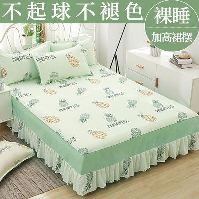 37360/韩版卡通床罩床裙高档防灰尘防滑床笠保护套子床单单件床垫床套罩