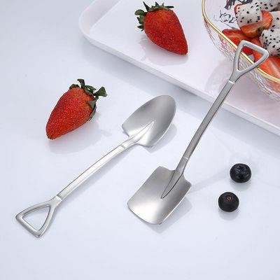 网红铁锹勺子创意个性不锈钢家用吃饭西瓜勺调味勺加厚铁铲甜片勺