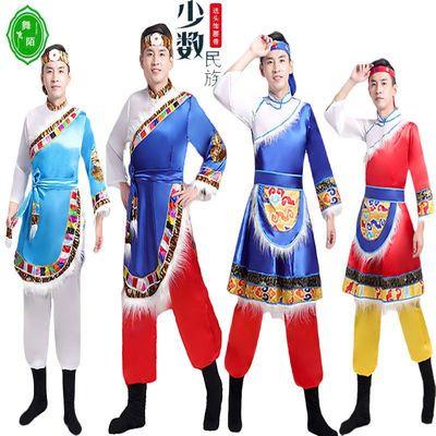 55916/西藏民族舞蹈表演服装藏装男藏袍少数民族男舞台演出服饰成人服装