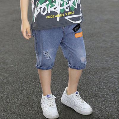 39461/儿童装男童夏装短裤2021年新款中大童5分裤薄款男孩夏季牛仔裤潮