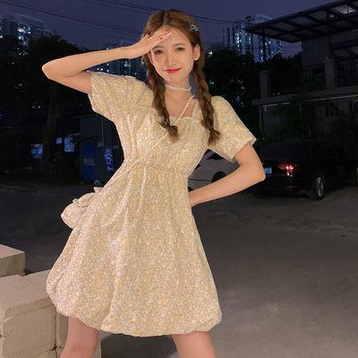 39694/碎花裙泡泡袖连衣裙女装夏季2021新款小清新初恋温柔风小个子裙子