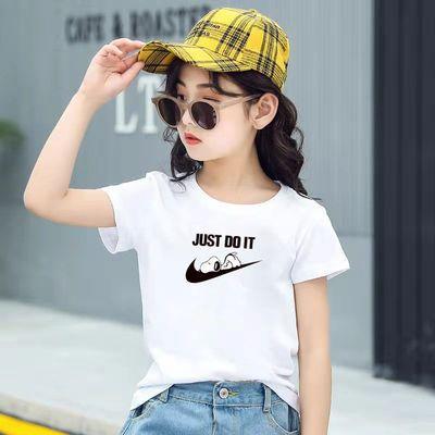 小女孩夏装纯棉短袖T恤2021新款洋气畅销版小中大男童装厂家直销