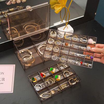 饰品盒子网红透明首饰盒多层大容量饰品收纳盒耳环盒子首饰盒女