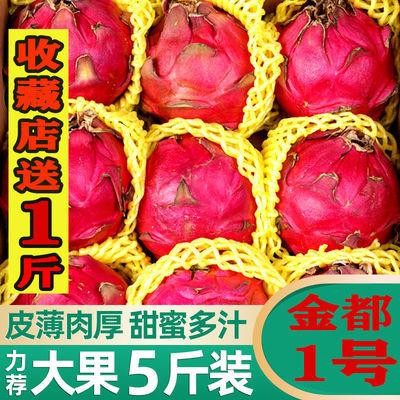 39617/【亏本冲量】海南金都一号红心火龙果2-10斤新鲜水果应季孕妇红肉