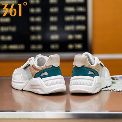 361°云舒NFO丨休闲运动鞋男2021年夏季新款透气时尚软底减震跑鞋