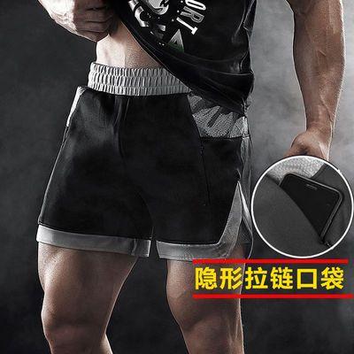 39693/夏季男士薄款运动三分短裤休闲宽松健身跑步速干弹力跑裤健美裤