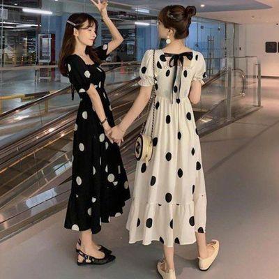 40666/2021春夏季新款连衣裙女泫雅风可盐可甜闺蜜中长款显瘦超仙女裙子