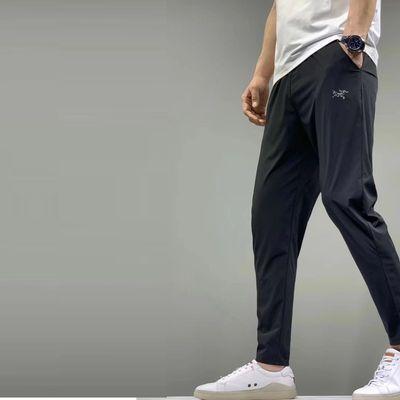 60874/夏季冰丝长裤男士超薄弹力加肥加大码运动休闲宽松户外速干空调裤