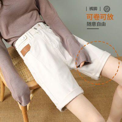 55418/高腰牛仔短裤女2021夏季新款宽松潮时尚百搭五分中裤显瘦直筒短裤