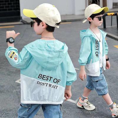 38667/男童防晒衣2021年新款帅气男孩轻薄款夏季中大儿童皮肤衣休闲外套