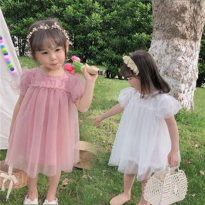 女童连衣裙2021夏季宝宝公主裙中小童纱裙儿童网纱裙子蓬蓬裙短裙