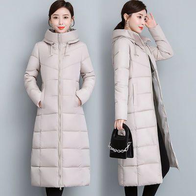 46566/棉衣女2021新款韩版女装中长款冬天衣服女外套大码棉服反季棉袄