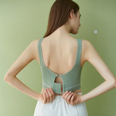 39300/美背文胸一体抹胸无痕运动内衣女薄款大胸显小胸聚拢裹胸罩女新款