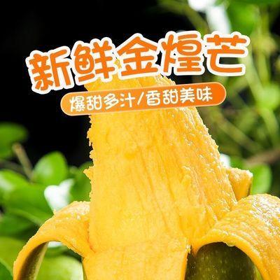 39860/【核薄】金煌芒新鲜热带水果大青芒果当季整箱包邮3/5/10斤批发