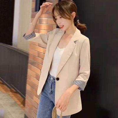 39067/薄款小西装外套女春夏2021新款韩版网红设计感小众短款小西服上