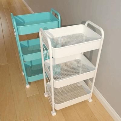 40851/手推车置物架厨房落地多层可移动浴室卫生间储物架卧室零食收纳架