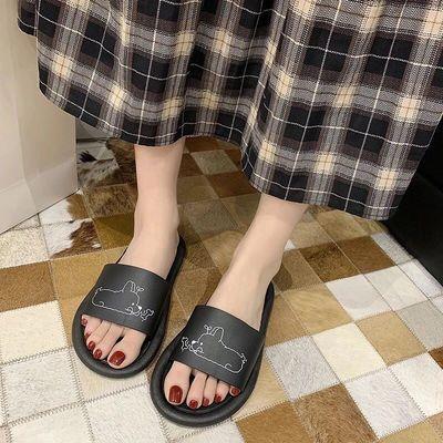 日月兰 拖鞋女夏2021新款韩版可爱卡通居家室内浴室洗澡凉拖男ins