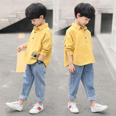 57739/童装男童秋装套装2021新款儿童中大童男孩洋气韩版帅气两件套潮衣