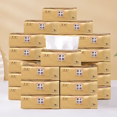 40065/加厚纸巾原木抽纸整箱批发家用餐巾纸妇婴面巾超大包家庭装卫生纸