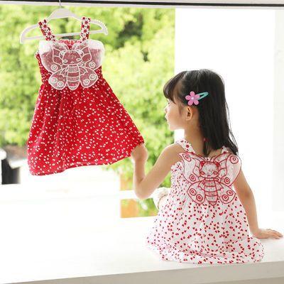 女童连衣裙儿童背心裙夏装新款网红洋气女宝宝连衣裙中小童装裙子