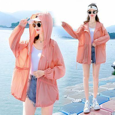 防晒衣女夏季开衫2021新款防紫外线透气薄外套宽松洋气长袖防晒服