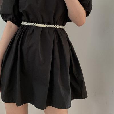 78560/腰带女装饰连衣裙子汉服西服气质百搭新款细珍珠腰封复古夏季腰链