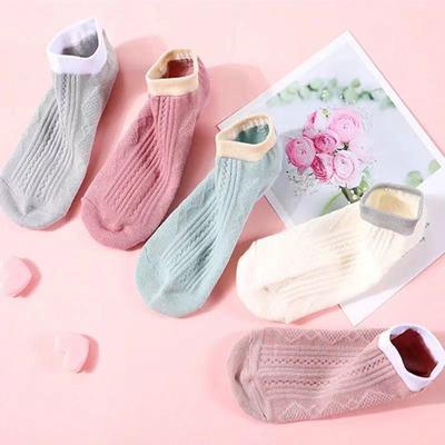 袜子女短袜浅口日系船袜女棉袜春夏季隐形不掉跟防臭薄款ins潮流