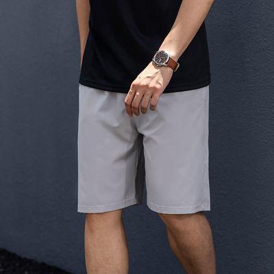 夏季薄款男士休闲运动短裤透气速干冰丝五分裤健身训练跑步运动裤