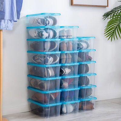 日本爱丽思IRIS透明鞋盒收纳盒鞋子塑料防尘放鞋宿舍网红加厚无味